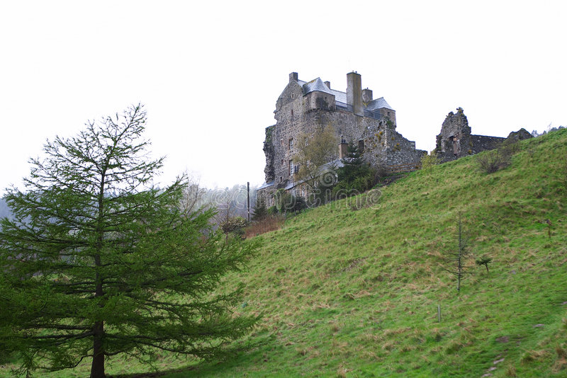 Château 1 de Neidpath images libres de droits
