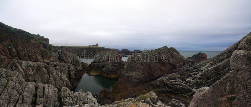 Ch?teau Aberdeenshire, Ecosse de Slains photographie stock libre de droits