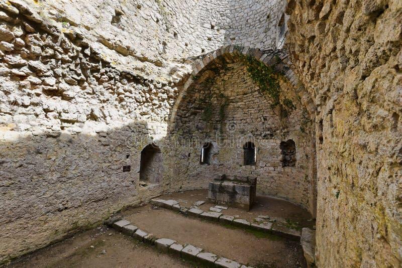 Château Aguilar dans les Frances image libre de droits