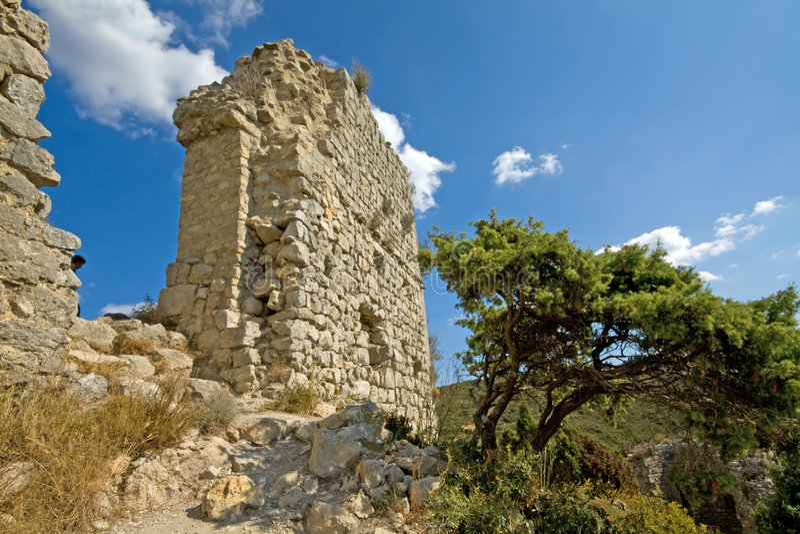 Château Aquilar images libres de droits