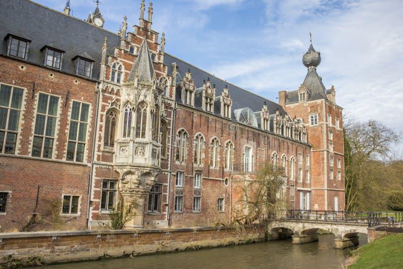 Château Arenberg, maintenant université de Louvain image libre de droits