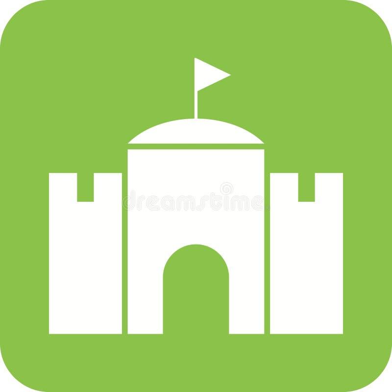 château avec le drapeau illustration stock