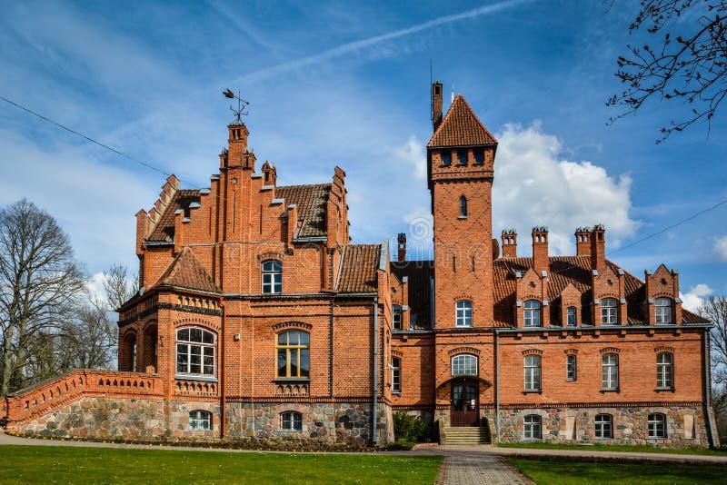 Château célèbre de la Lettonie image libre de droits