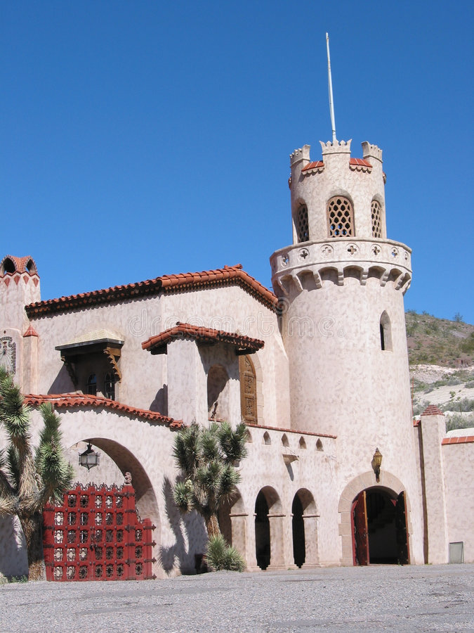 Château Closeuup de Death Valley Scotty photo libre de droits