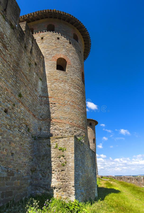 Château Comtal de forteresse de Carcassonne, France images libres de droits