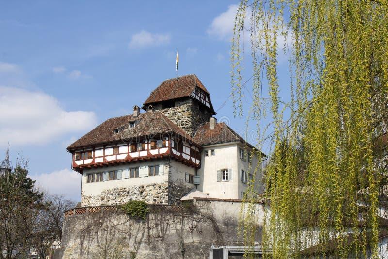 Château construit au 13ème siècle dans Frauenfeld, Suisse images libres de droits