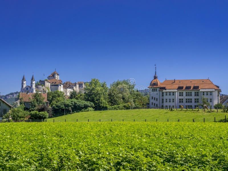 Château d'Aarburg, Suisse image stock