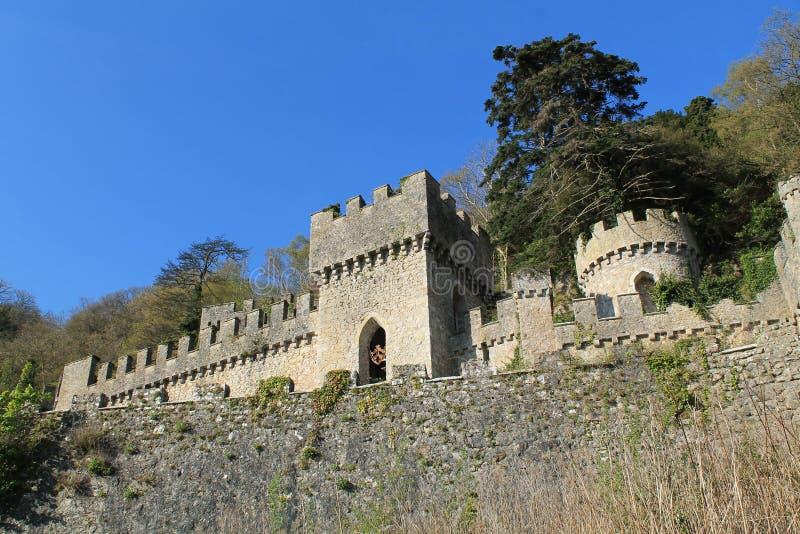 Château d'Abergele, Pays de Galles du nord, R-U photographie stock libre de droits