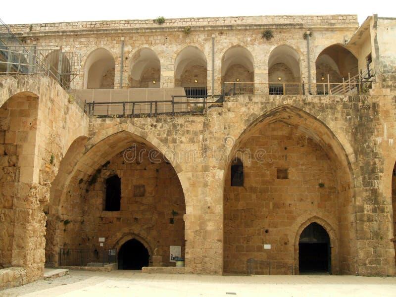 Château d'acre, Israël, Moyen-Orient photo stock