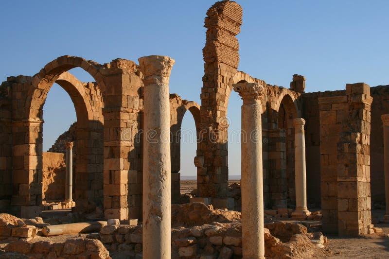 Château d'Al-sharqi d'Al-hayr de qasr photographie stock libre de droits