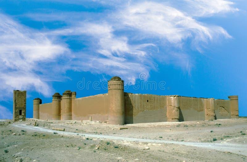 Château d'Al-Sharqi d'Al-Hayr de Qasr dans le désert syrien photos libres de droits