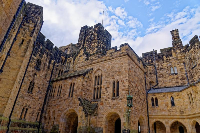 Château d'Alnwick - Northumberland - Royaume-Uni photos stock
