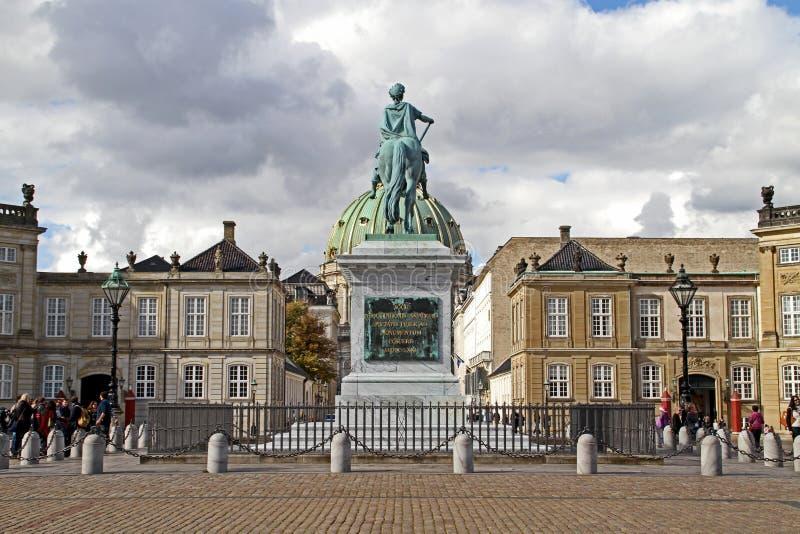 Château d'Amalienborg, Copenhague image libre de droits