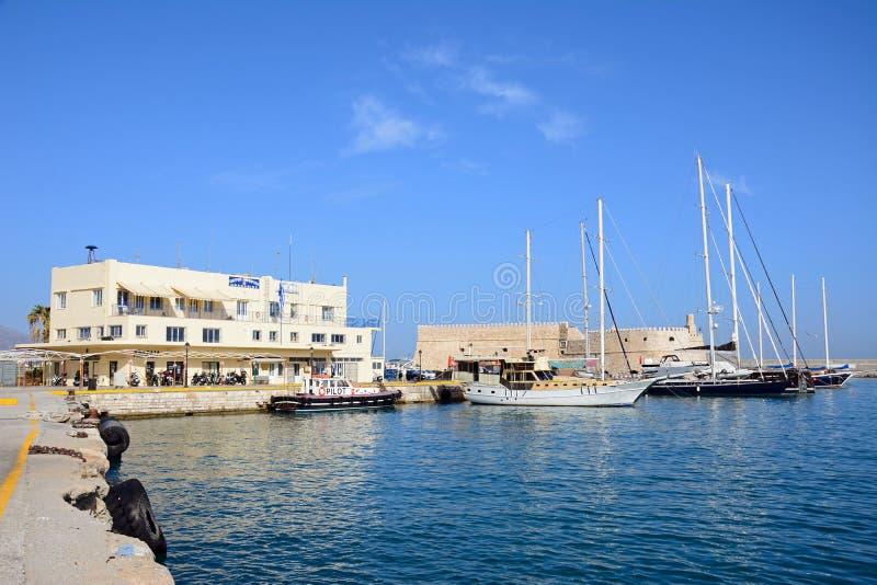 Château d'amd de port de Héraklion, Crète image stock