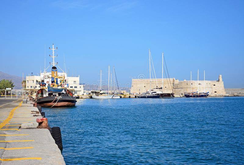 Château d'amd de port de Héraklion, Crète photo stock