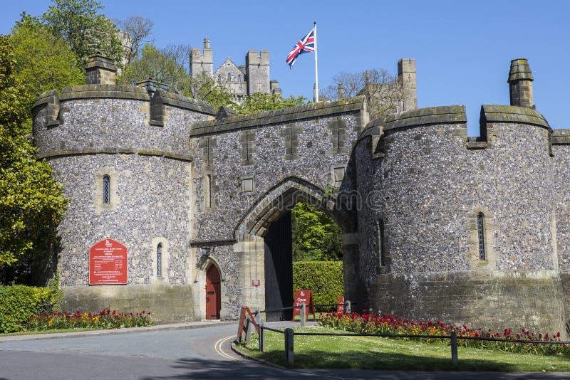 Château d'Arundel dans le Sussex occidental photos stock