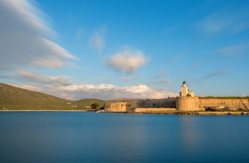Château d'Ayia Mavra à l'île de Leucade photo libre de droits