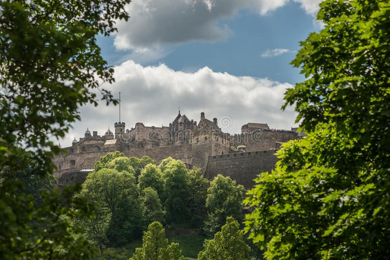 Château d'Edimbourg, Edimbourg, histoire écossaise photographie stock libre de droits