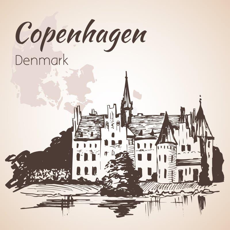 Château d'Egeskov, Danemark illustration libre de droits