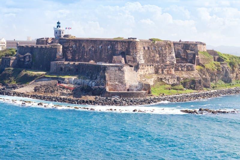 Château d'EL Morro à San Juan image stock