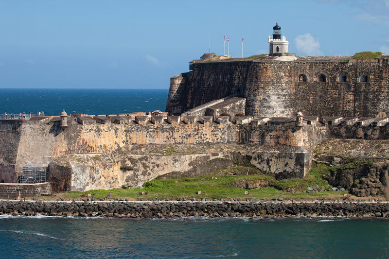 Château d'EL Morro à vieux San Juan images libres de droits