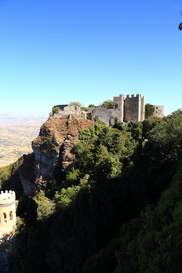 Château d'Erice (Sicile) de Vénus photo stock