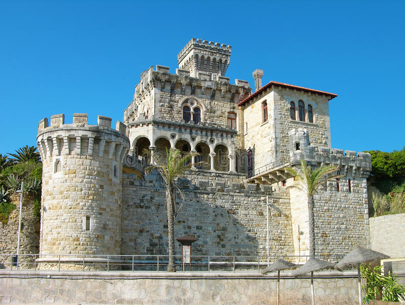 Château d'Estoril, Portugal images stock