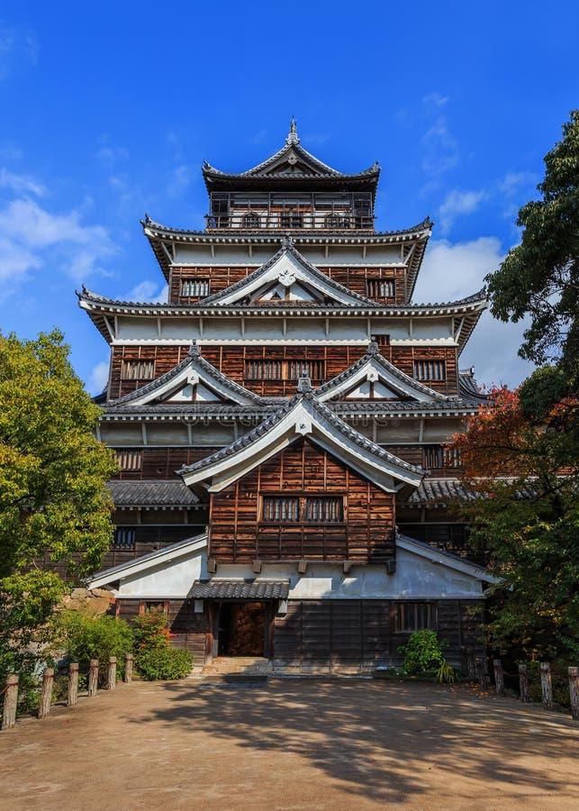 Château d'Hiroshima image libre de droits