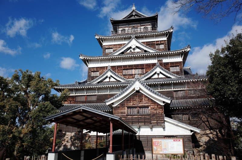 Château d'Hiroshima, Préfecture d'Hiroshima, Japon photo stock