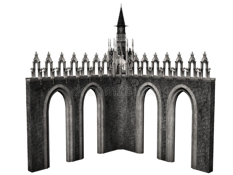 Château d'imagination illustration de vecteur