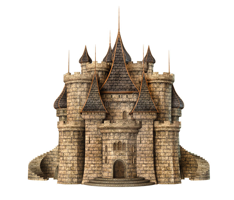 Château d'imagination illustration stock