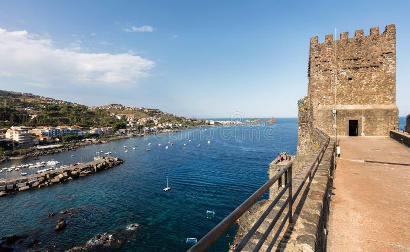 Château d'interception commandée en vol Castello en Sicile, Italie images libres de droits