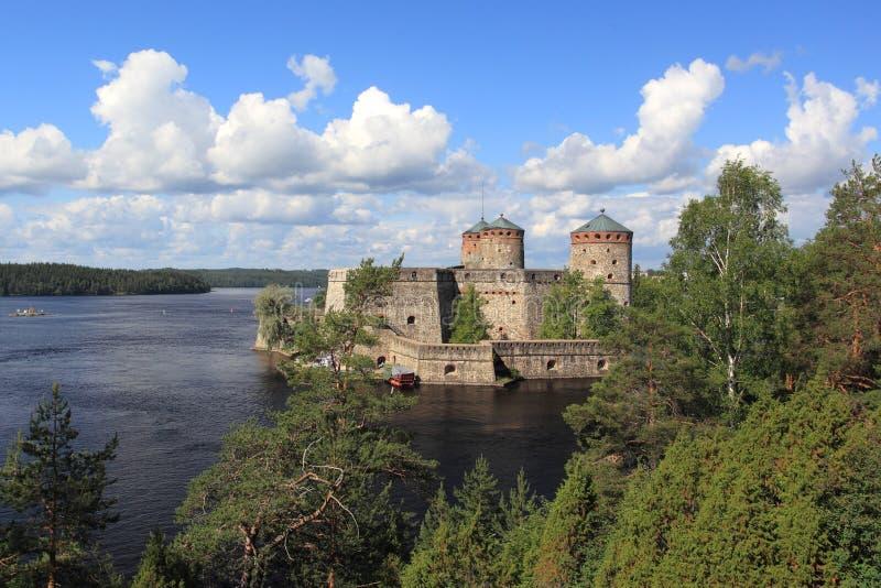 Château d'Olavinlinna photo stock