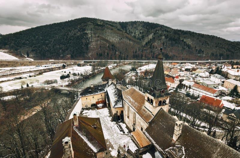 Château d'Orava - République slovaque photographie stock
