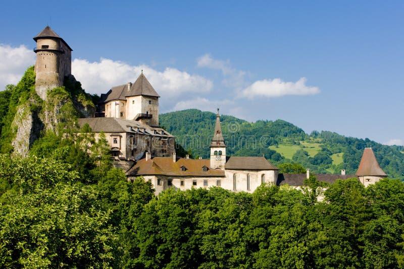 Château d'Oravsky photo stock