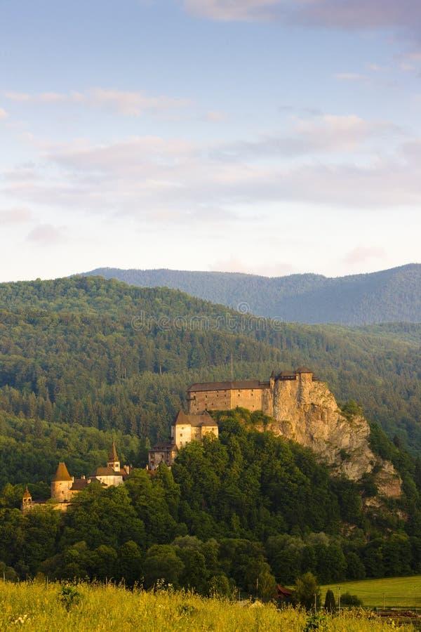 Château d'Oravsky, Slovaquie photos stock