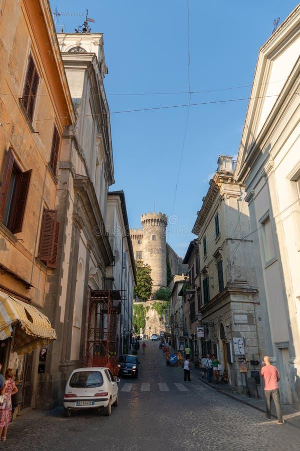 Château d'Orsini Odescalchi, Bracciano, Italie photographie stock libre de droits