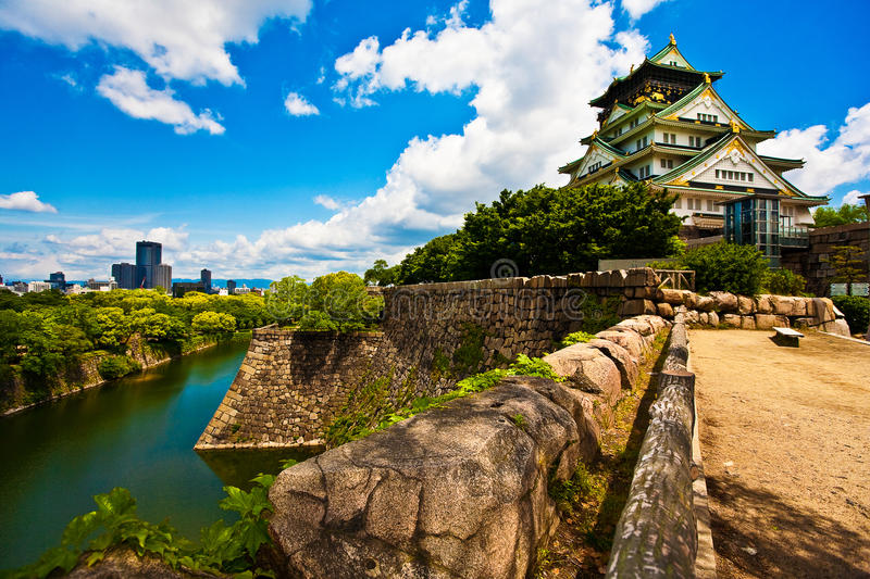 Château d'Osaka, Japon photos stock