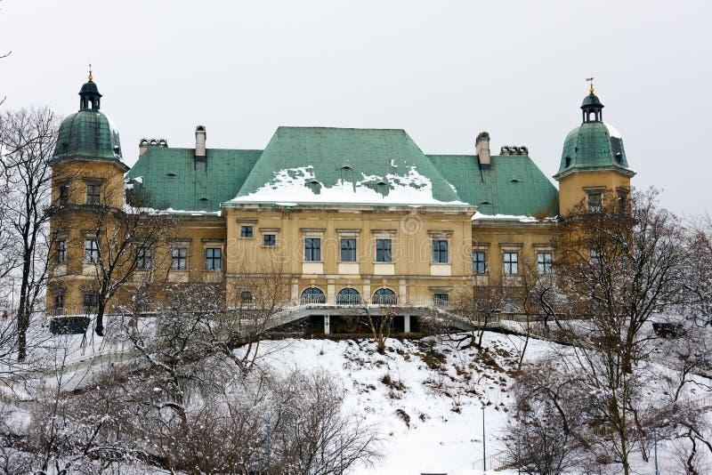 Château d'Ujazdow à Varsovie image libre de droits