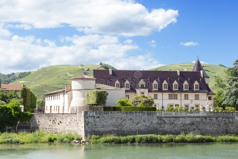 Château dans Ampuis, Auvergne-RhÃ'ne-Alpes photos libres de droits