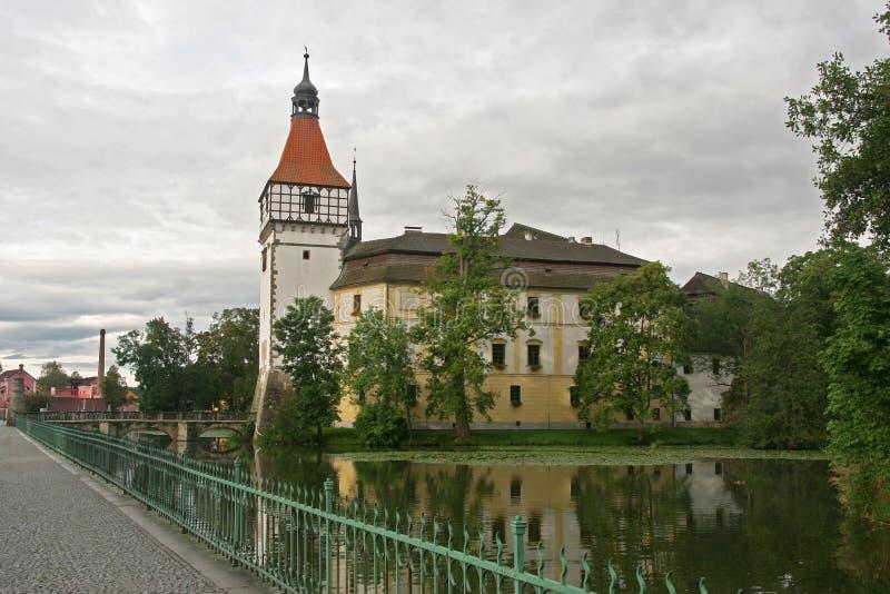 Château dans Blatna, République Tchèque photo stock