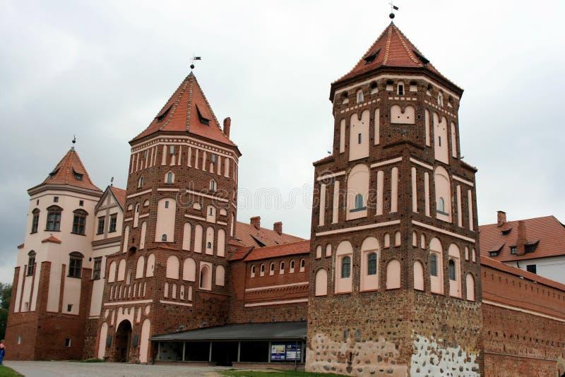 Château Dans La MIR Au Belarus Images libres de droits