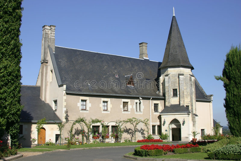 Château dans le Loire image libre de droits
