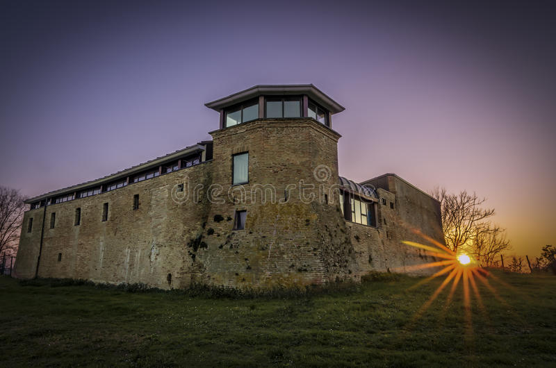 Château dans Riccione photos libres de droits