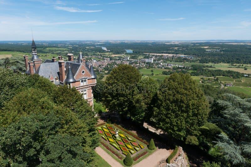 Château dans Sancerre image libre de droits