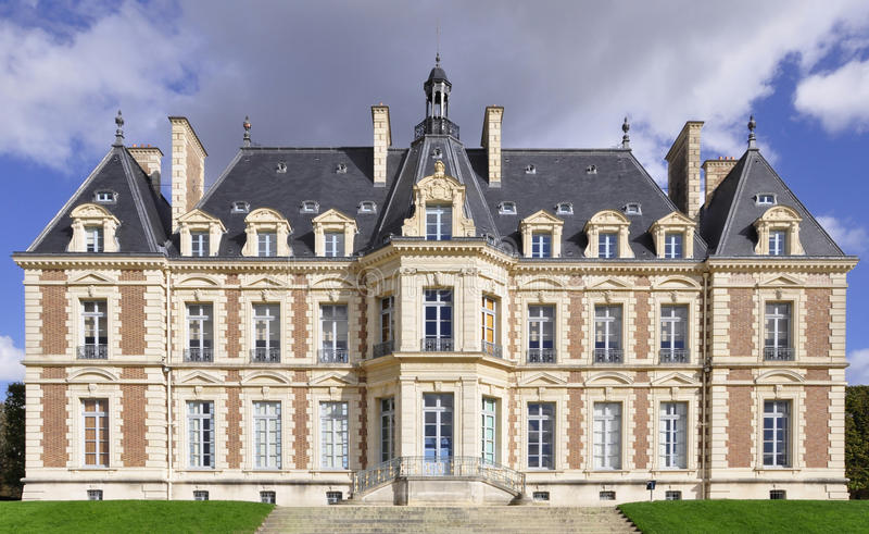 Château dans Sceaux près de Paris, France images stock