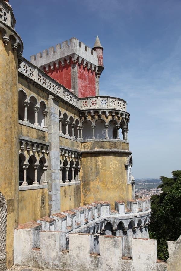 Château dans Sintra Portugal images libres de droits