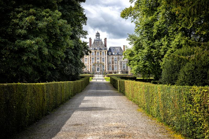 Chateau de Balleroy. Balleroy, Normandy, France. The Château de Balleroy is a seventeenth-century chateau in Balleroy, Normandy. it was bought in 1970-1971 royalty free stock images