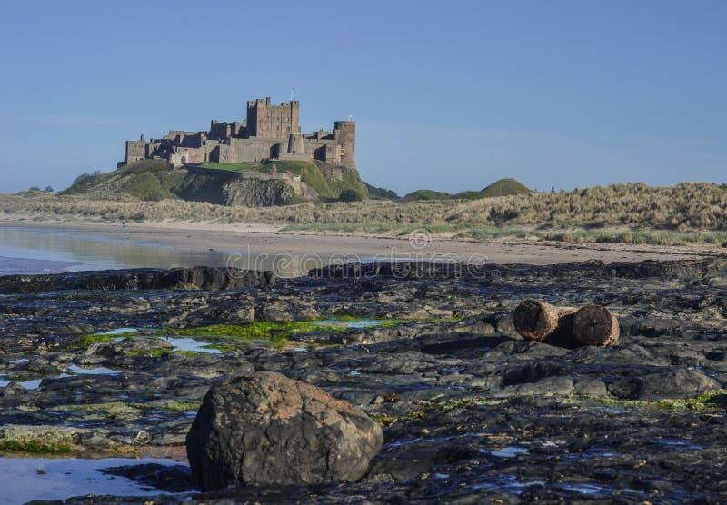 Château de Banburgh - vue du côté nord photographie stock libre de droits