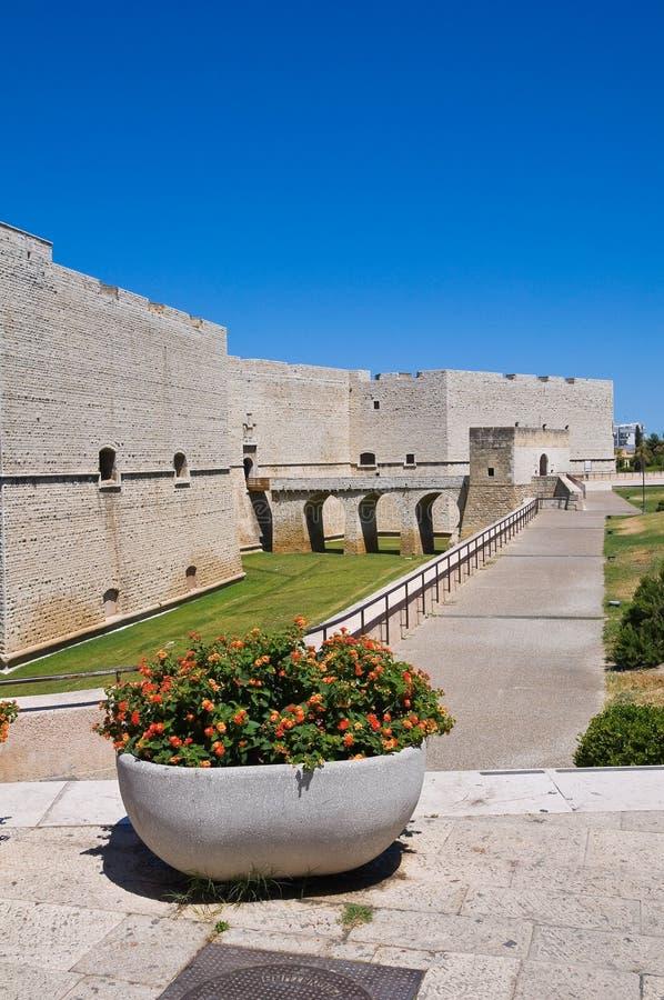 Château de Barletta. La Puglia. l'Italie. image libre de droits
